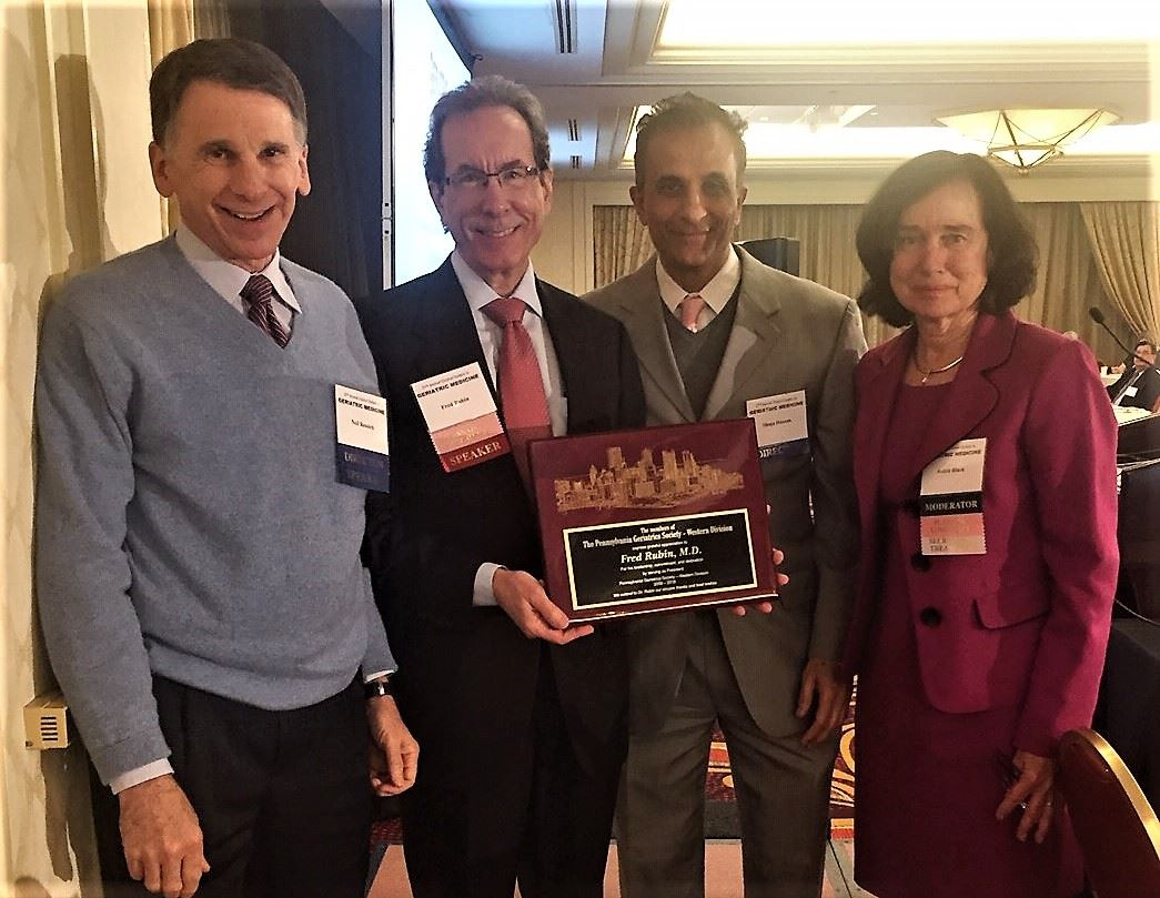 Left to Right Neil Resnick, MD; Fred Rubin, MD; Shuja Hassan, MD; Judith Black, MD